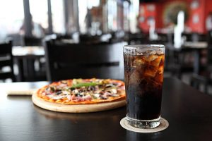 pizza with coke