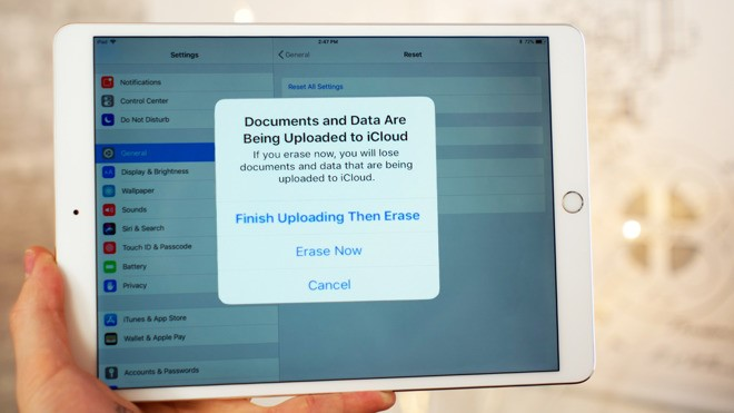 Reset Your iPad Back to Factory Settings