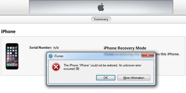 iphone iTunes error